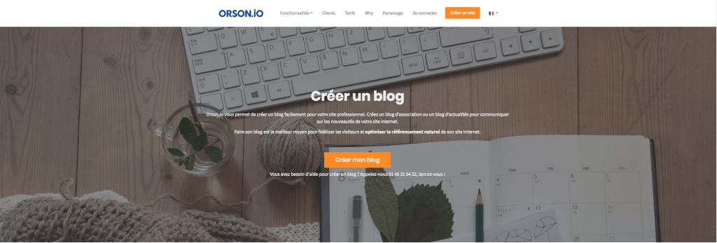 Créer un blog avec Orson