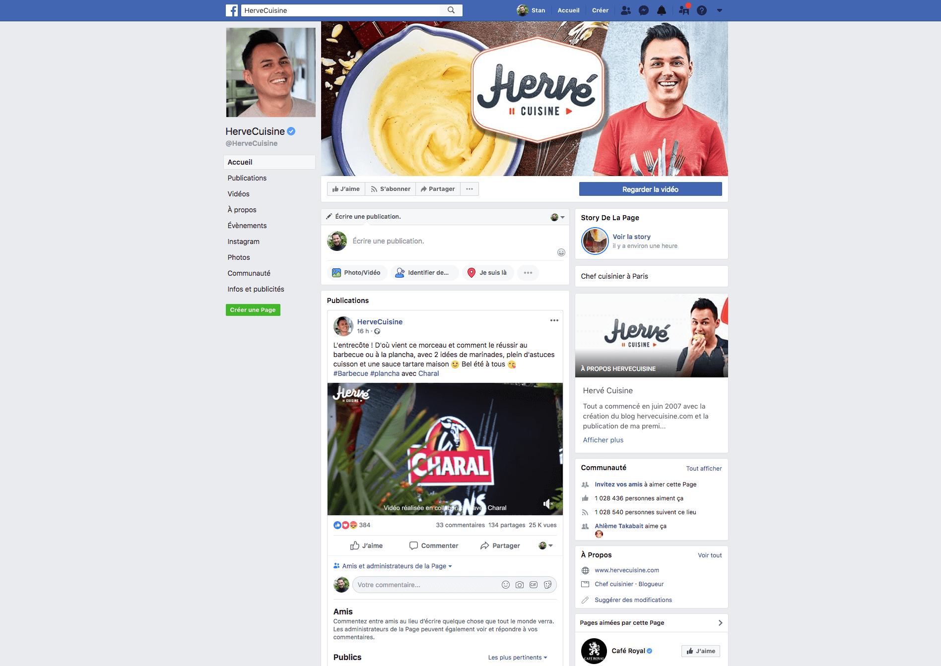 Page facebook de Herve Cuisine