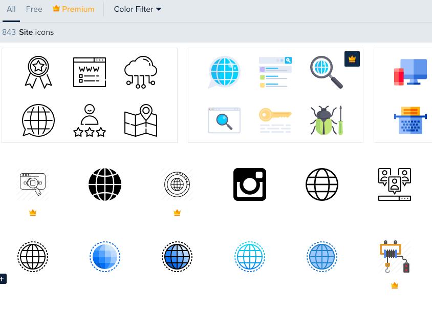 Site icônes gratuites flat icon