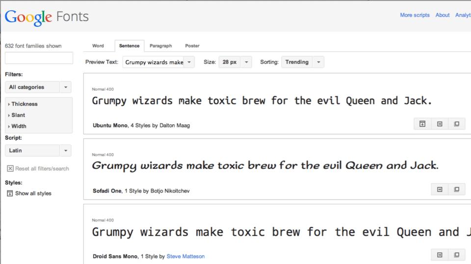 fonts google pour le web