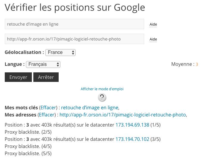 Position site google positeo