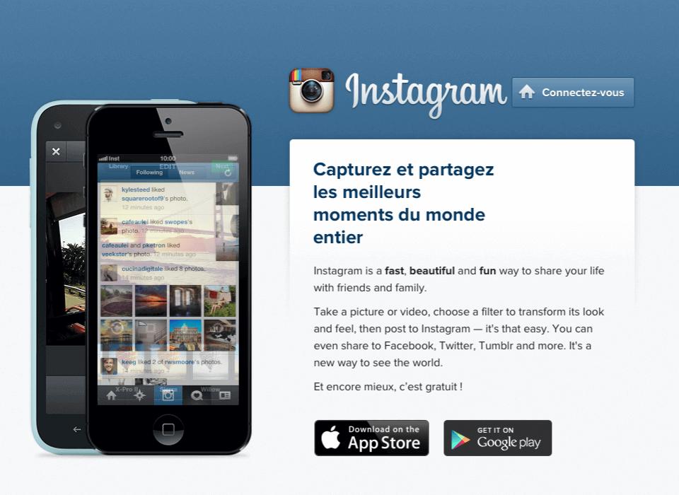 Utiliser Instagram