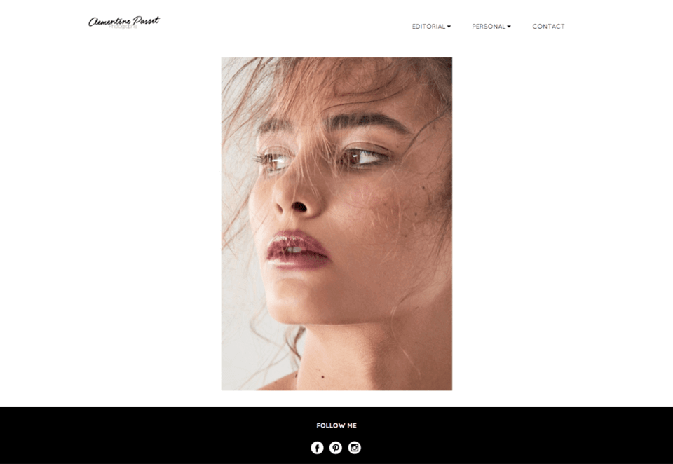 webdesign inspiration photographe