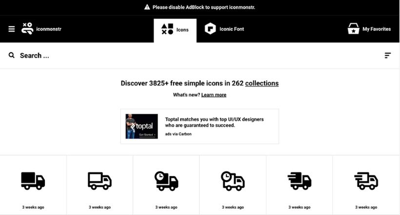 IconMonstr : Ressources icône pour site internet