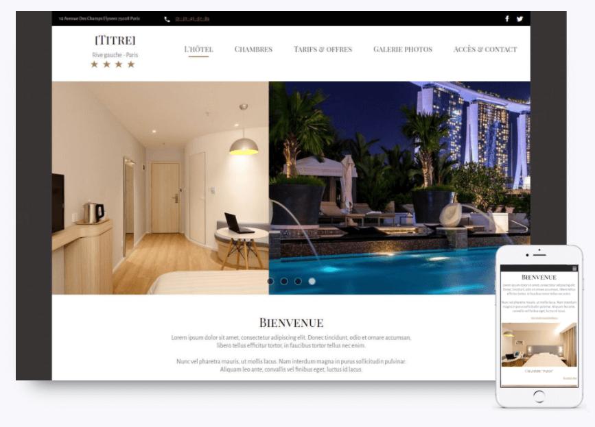 site hôtel sitew responsive design