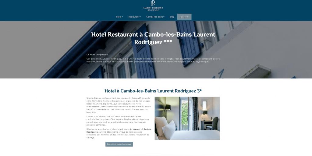 Exemple site internet hôtel orson