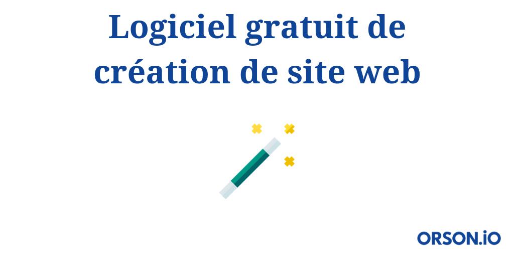 logiciel gratuit de creation de site web