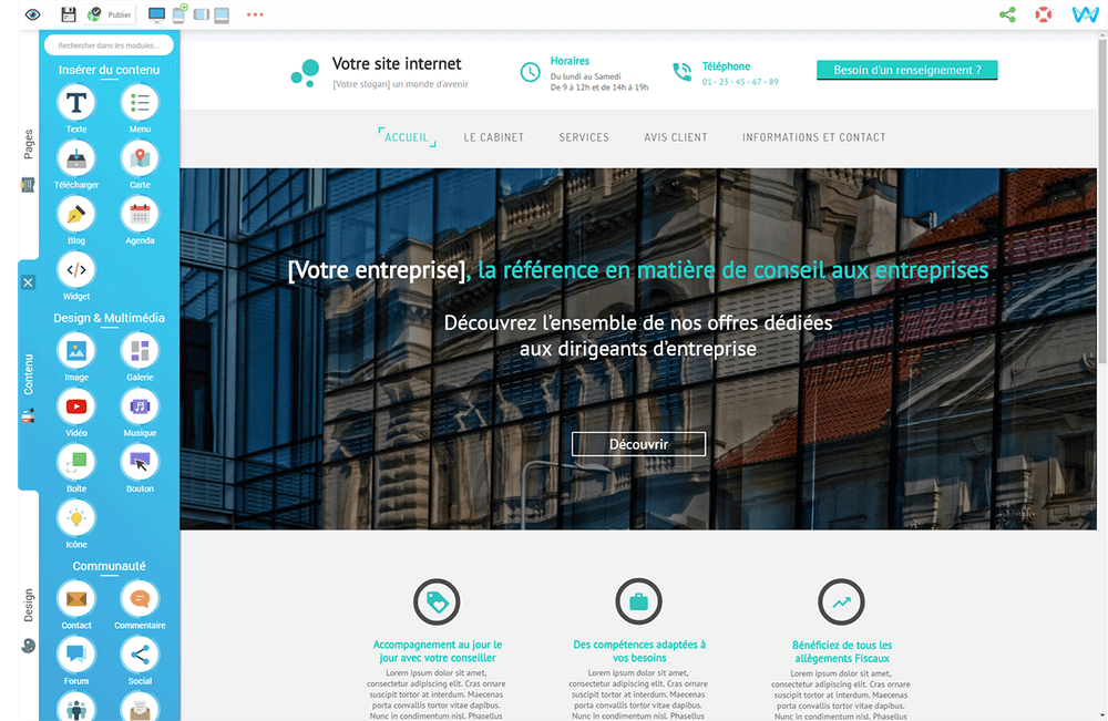 le logiciel de creation de site internet sitew