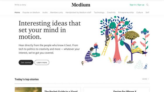 Logiciel de création de blog Medium