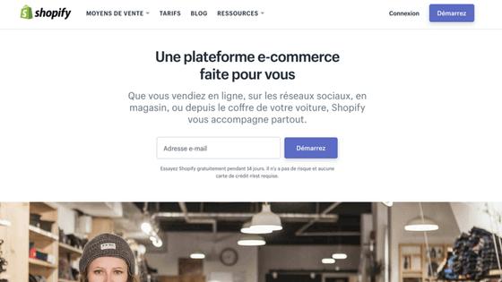 logiciel de création de site e-commerce Shopify