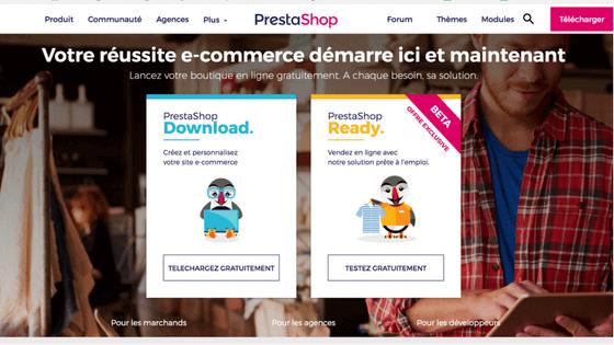 logiciel de création de site marchand Prestashop