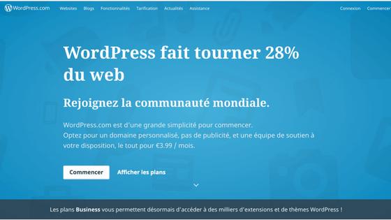 logiciel de création de site web WordPress