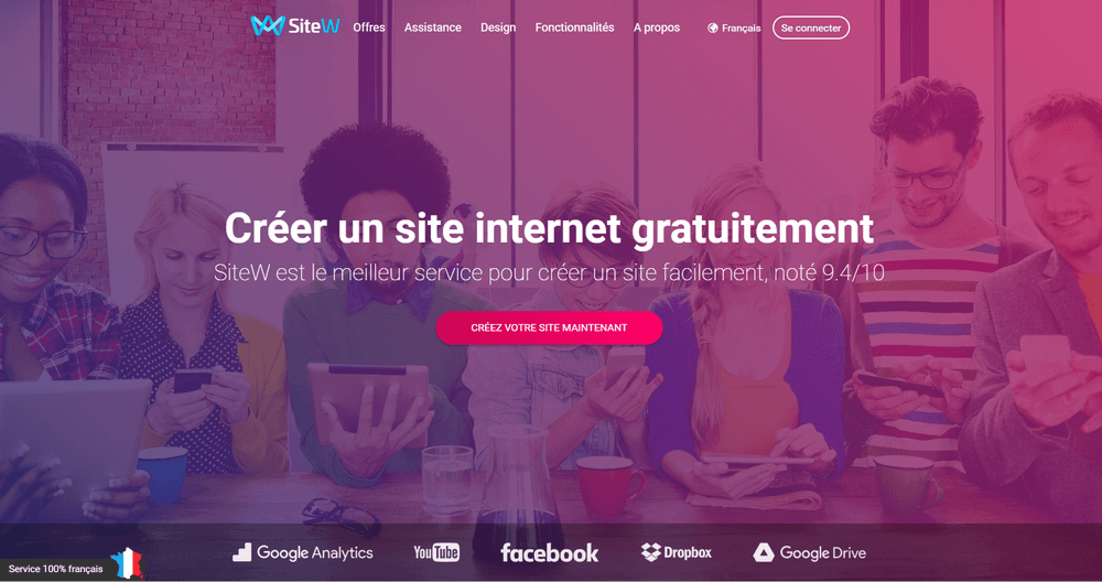 logiciel de creation de site internet sitew