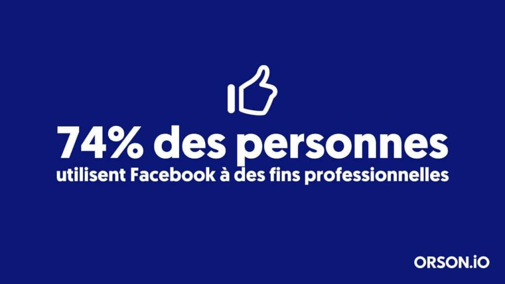 Statistiques facebook professionnel