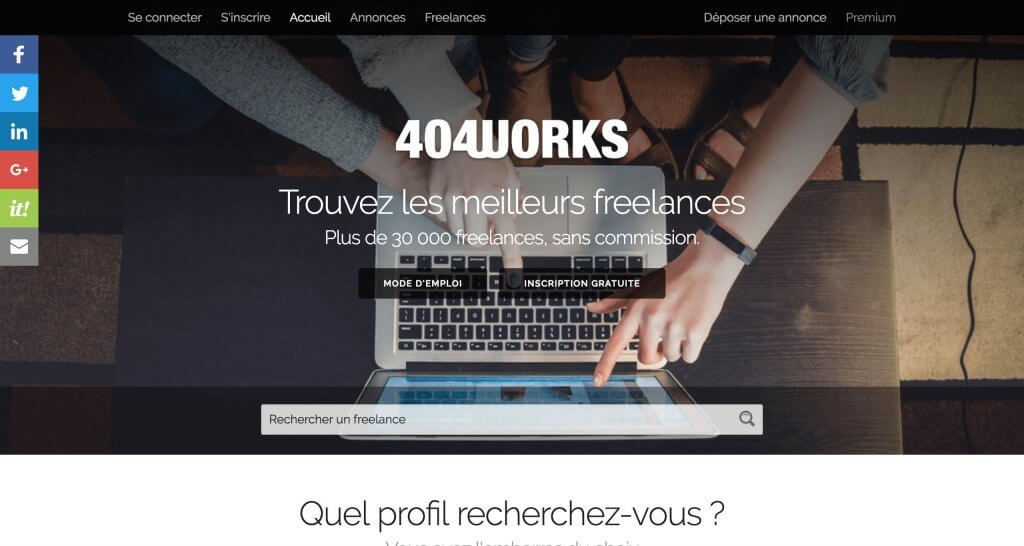 404 works plateforme freelance