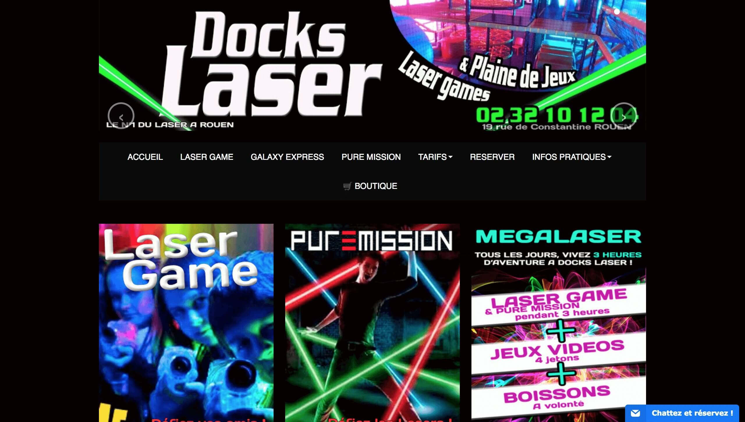 meilleur site internet docks laser rouen