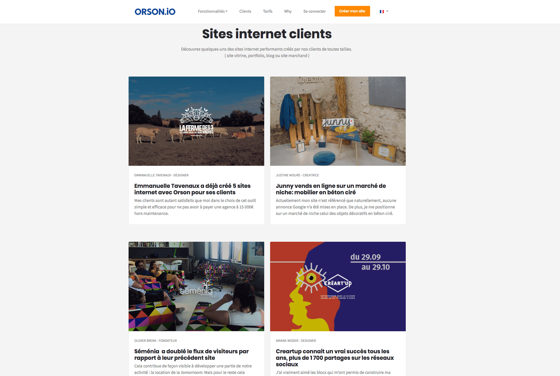 Creation de site internet clients