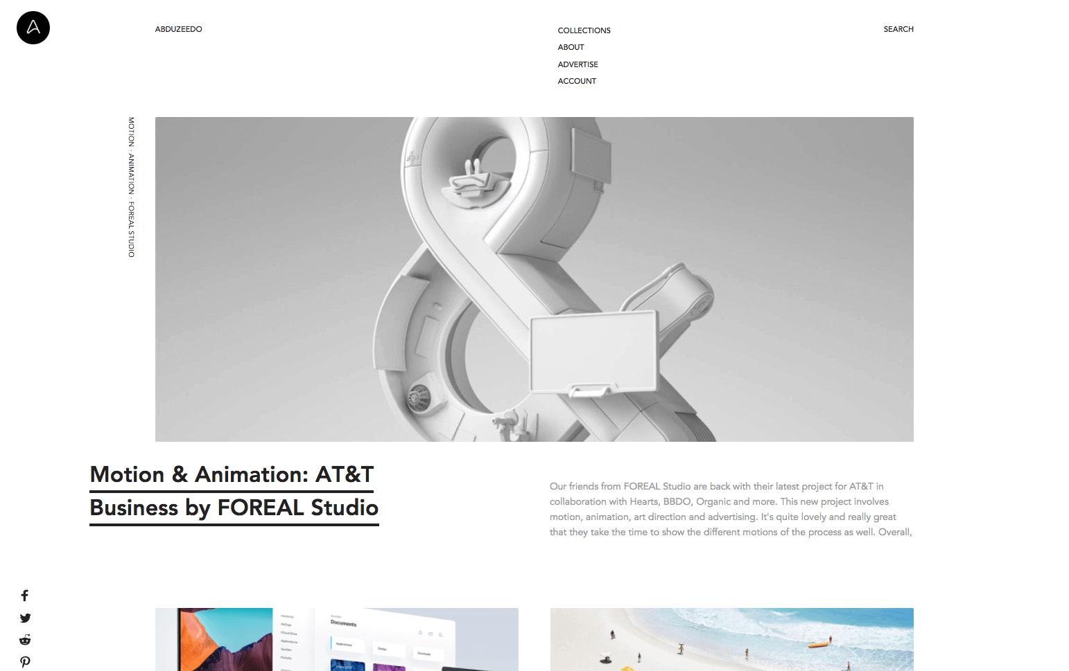 abduzeedo site d'inspiration pour site vitrine