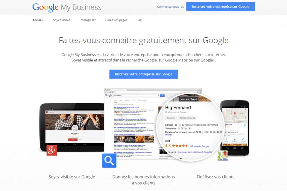 ajouter entreprise sur google map