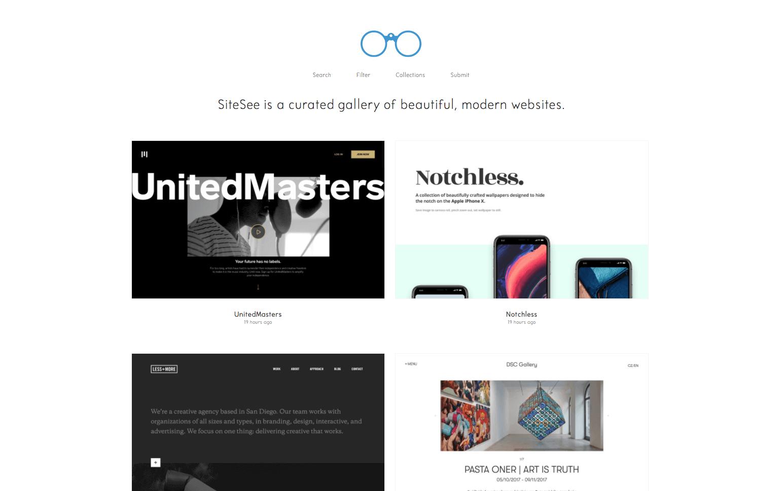site d'inspiration pour créer site vitrine site see