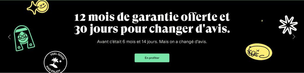back market bannière publicitaire