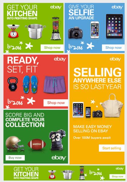 ebay bannière publicitaire