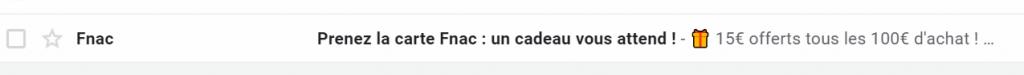 Objet emailing